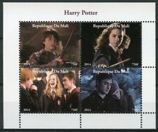 Kyrgyzstan 2002 MNH Harry Potter Hermione Granger 9v M/S Owls Movies Stamps