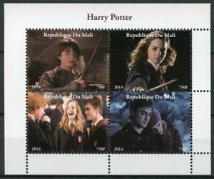 Mali Harry Potter Stamps 2014 MNH Hermione Granger Ron Weasley Movies 4v M/S