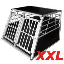 Trasportino Doppio gabbia  in alluminio  per cani da auto  L 104 cm