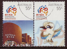 AUSTRALIA 2010 SHANGHAI WORLD EXPO PAIR FINE USED