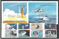 Raumfahrt - Space  St.Vincent Grenadin. 654 - 61 + Block 44/5   **  (mnh)