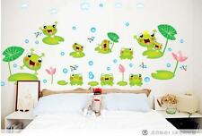 Cartoon frog Home Decor Removable Wall Sticker/Decal/Decoration