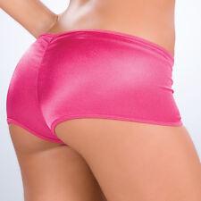 New 3007 Hot Metallic Pink Scrunch Booty Mini boy shorts Bikini panties S M L