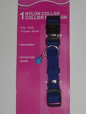 "Cat / Dog Collar Small Blue 7""-12"" X 5/8"" W/ Little Bell See My Other Items"