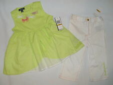 NWT $49.50 KENNETH COLE 2pc set GIRL 3T green