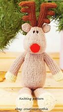 (8) Christmas Toy Knitting Pattern for Adorable Reindeer