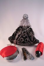 Vintage French refurbished Victorian Art nouveau,Micro beaded filigree