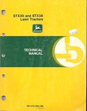 John Deere TM-1418Technical Tech  Manual STX30 STX38 Lawn Tractors