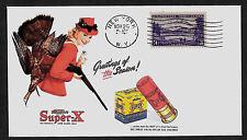 Vintage Super-X Shotgun Shells Ad Featured on Collector's Envelope *A163