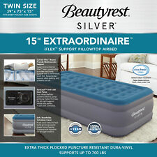Beautyrest Extraodinaire Raised Air Mattress Iflex Support Built-in Pump Full