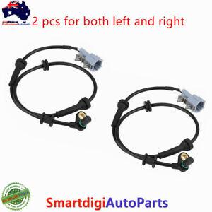 2Pcs New Front Left+Right ABS Sensor For Nissan Navara NP300 D40 Pathfinder R51