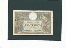 100 francs, LOM avec LOM. 09/05/1908. rare et recherché !