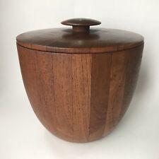 Mid Century MODERN Wood Danish Style ERNEST SOHN Siamese Teak Ice Bucket