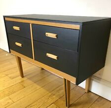 Refinished Mid Century Lebus Chest of Drawers/Dresser