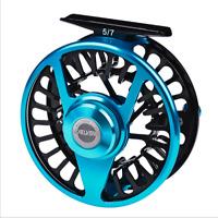 Fly Reel Large Arbor Fishing Reel Gear ratio 1:1 Ball bearing 2+1BB Alloy