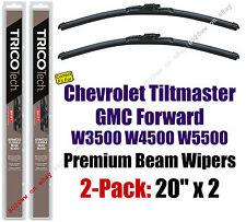 Wipers 2pk Premium Beam Blades 1995-2010 GMC Forward W3500 W4500 W5500 - 19200x2