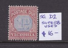 Victoria: 2d Postage Due Sg D2 Wmk V Ov Cr Upright V. F.Used