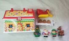 Fisher Price Little People On The Go Christmas Shop Gingerbread House / Figures