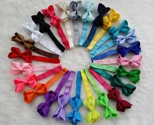"25 PCS 3"" Baby Girl Infant  hairband Hair Bows Clip with elastic headbands R"