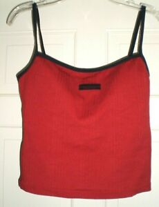 New Nautica ladies red/navy tankini separates swim top, size 10