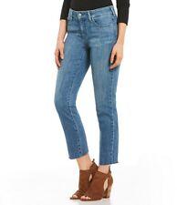 NYDJ Sheri Slim Ankle Frayed Hem Jeans Size 8  BRAND NEW! Retail Tag $119.00