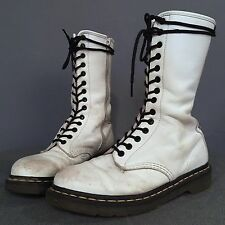Dr Marten Docs Boots SOFT leather WHITE 14 eye Women UK 7 US 9