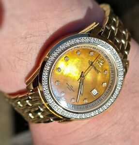 Mens Ingersoll genuine Diamond Watch,Mother of Pearl Dial,date swiss movt