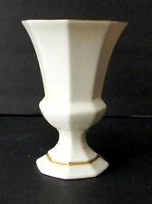 Lenox Vase Diana Multisided Pedestal Base Gold Trim 5.5 in T