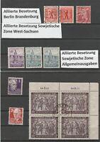 Alliierte Besetzung Berlin, Brandenburg, Sachsen, Sowjetische Zone schönes Lot