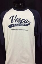 Vespa of Sylvania 2010 Blue & White 3/4 Length Sleeve Shirt XL