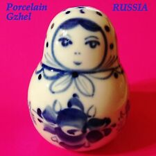 Matryoshka Porcelain figurine Gzhel Souvenirs from Russia hand painted