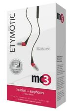 Etymotic MC-3 Music Headphones and Mic - Red  - New in original box