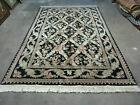 6' X 9' Hand Made William Morris Arts & Craft Chinese Wool Rug Carpet Black Nice