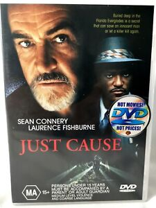 Just Cause (DVD, 2000) Laurence Fishburne, Ed Harris, Sean Connery Thriller -MA