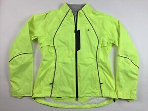Bontrager Men's Jacket Large Neon Yellow LIGHTS UP Waterproof Rain Cycling EE3
