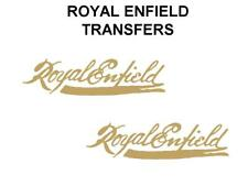 Royal Enfield Tank Transfers Decals Motorcycle Gold Script