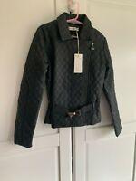 New SuperTrash Girls Designer Jacket, Black, 140, Age 10, RRP £99