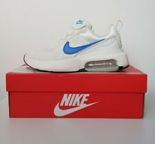 NIKE AIR MAX Verona White Chunky Trainers with Blue Tick & Cushioned Sole UK5