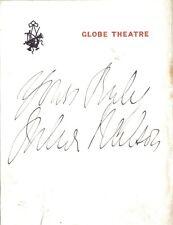 Julia Neilson - Lady Blakeney in The Scarlet Pimpernel - Globe Theatre autograph