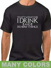 Men's Game of Thrones I Drink And I Know Things T-Shirt Tyrion Tee Shirt