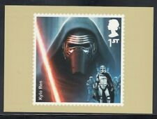 Great Britain Kylo Ren Star Wars Royal Mail Stamp Card