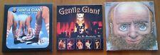 GENTLE GIANT 3 MINI LP CD: LIVE 75  - THE LAST STEPS - 1st ALBUM !! RARE !!!