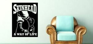 Skinhead A WAY OF LIFE ska music Lounge Funny Vinyl wall Decal Sticker