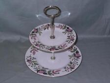 Wedgwood Hathaway Rose 2-Tier Hostess China Cake Plate Stand