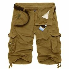 2018 Mens Cotton Summer Cool Army Combat Pants Camo Work Cargo Shorts Trousers