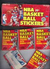 1979-80 Fleer Basketball Sticker Box (24) Packs nice, Box Worn