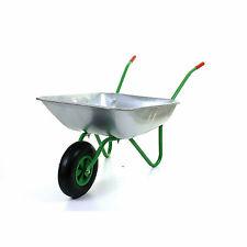 """Garden Wheelbarrows 65 L Galvanised Heavy Duty 12"""" PneumaticTyre"""