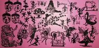 FAiRiEs Galore #1 Die Cut Embellishments 41 Pieces for JOURNALS, MIXED MEDIA