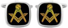 David Van Hagen Masonic Square Cufflinks - Onyx