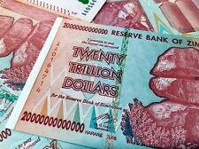 Zimbabwe 20 Trillion Dollars P89, AA 2008 Pick 89 UNC, 50 & 100 Trillion Series